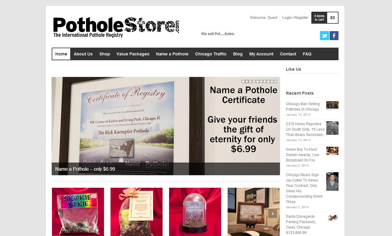 ThePotholeStore.com on WGN radio