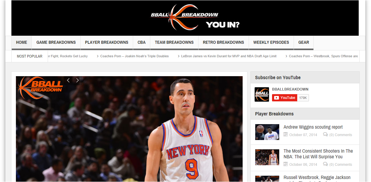 Our biggest site yet- BBallBreakdown.com