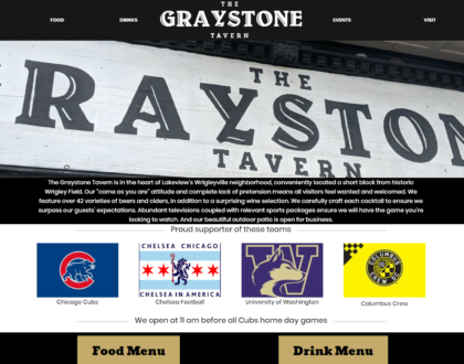 Graystone front page