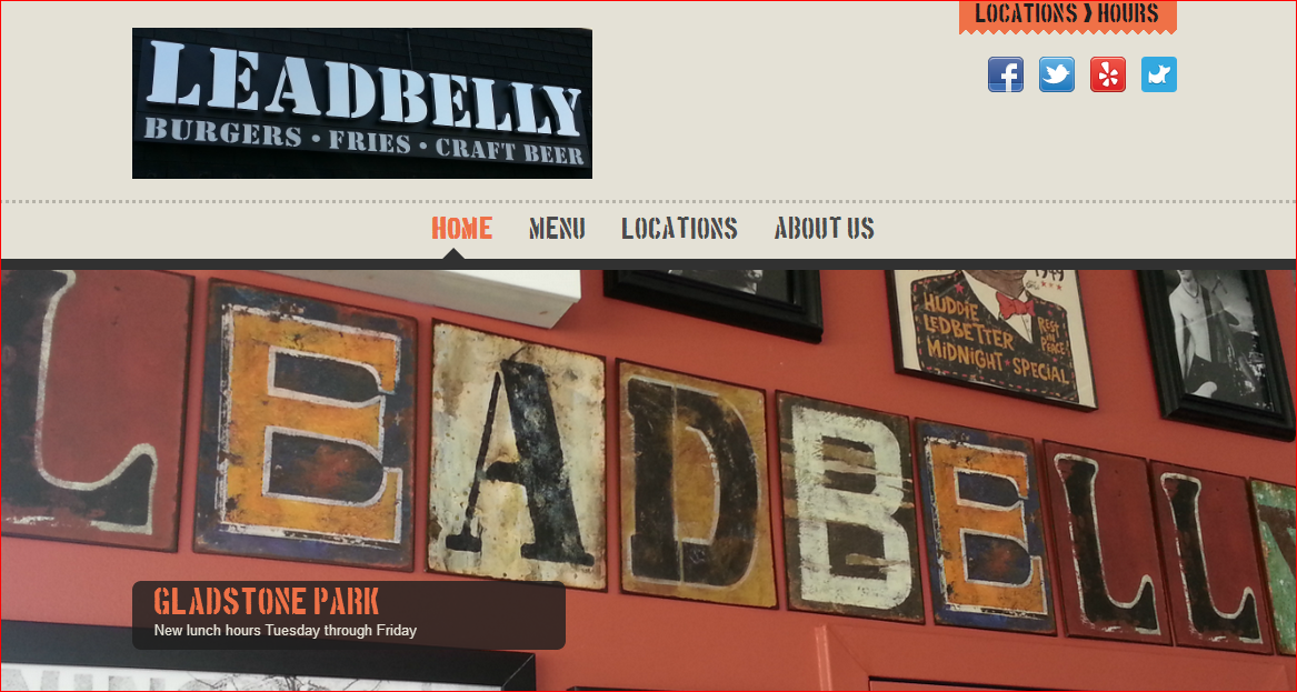 Leadbelly Burgers is live