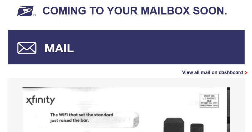 USPS Informed Delivery: Mail becomes Email
